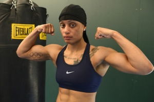 USA Boxing's 60kg Olympic boxer Queen Underwood took no chances with her hair.